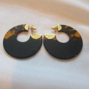 Tory Burch NWOT Resin Color Block Hoop Earrings